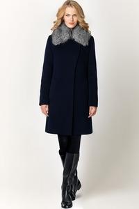 Зимнее пальто с мехом песца арт.602